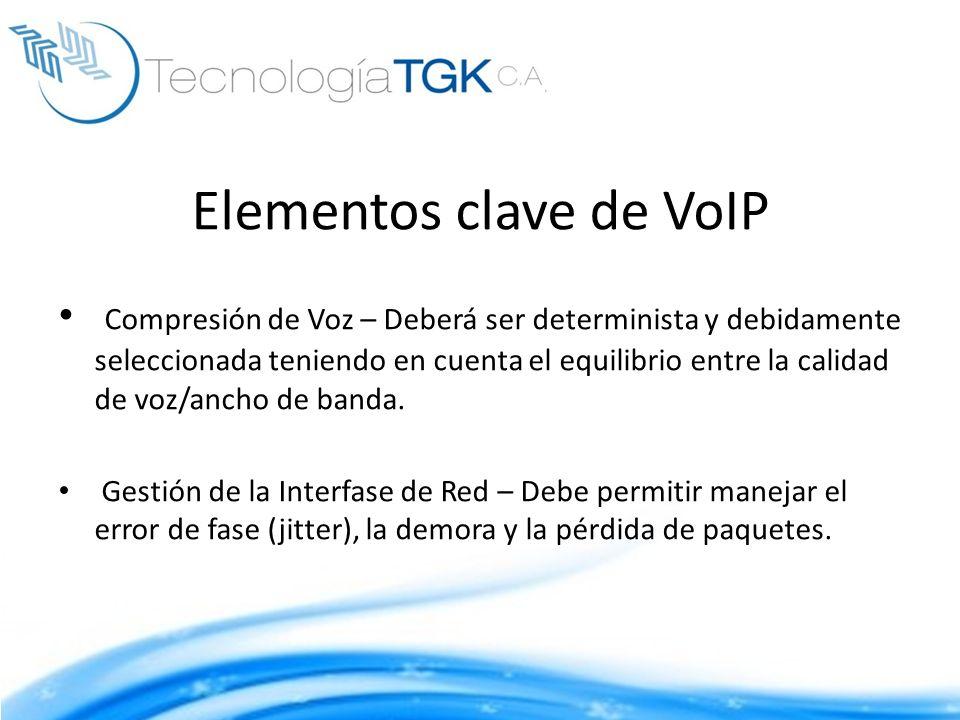 Elementos clave de VoIP