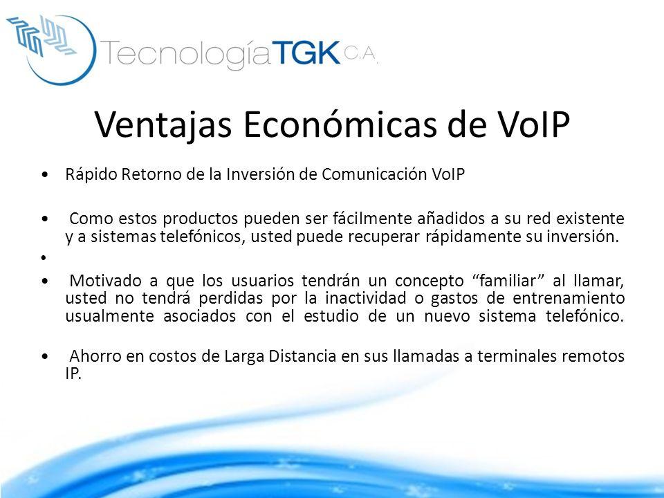 Ventajas Económicas de VoIP