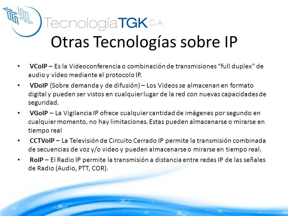 Otras Tecnologías sobre IP