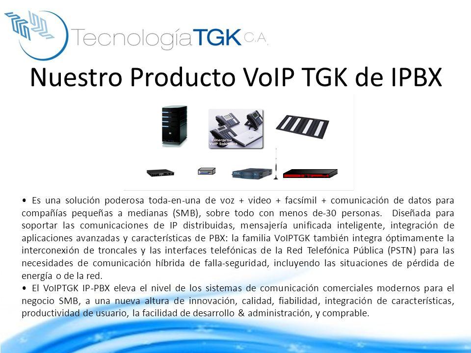 Nuestro Producto VoIP TGK de IPBX