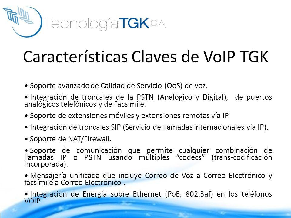 Características Claves de VoIP TGK