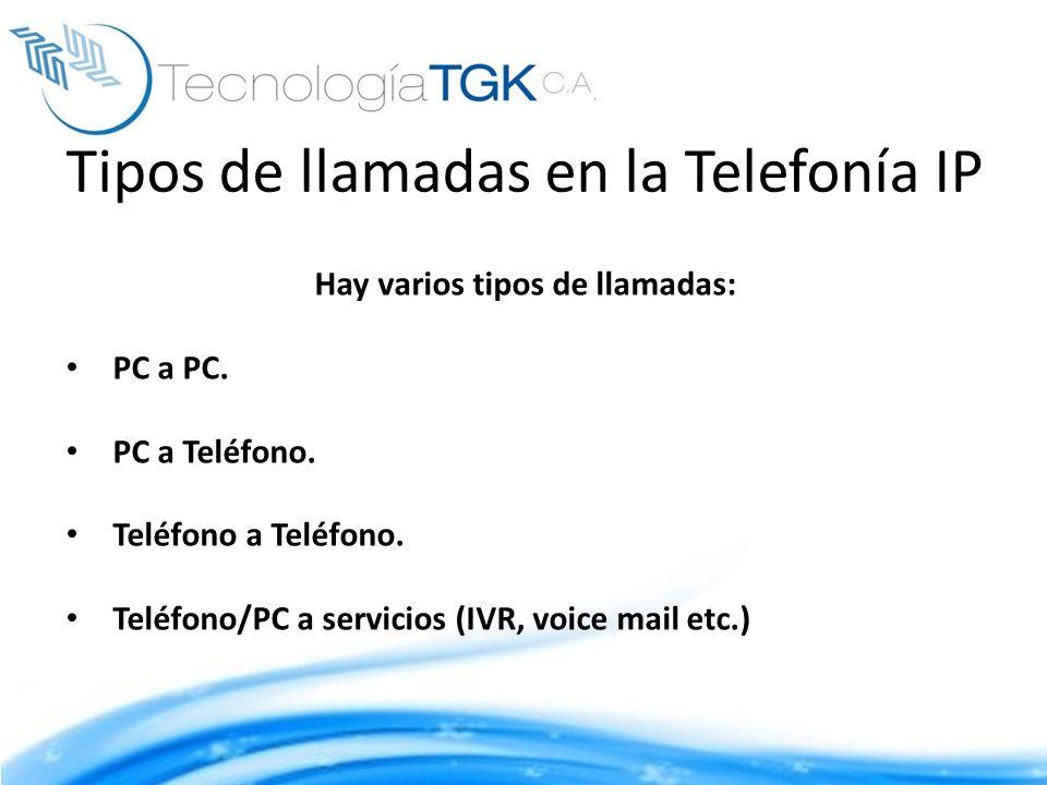 Tipos de llamadas en la Telefonía IP