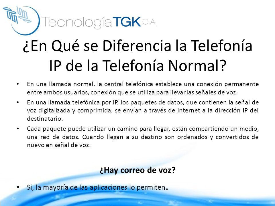 ¿En Qué se Diferencia la Telefonía IP de la Telefonía Normal