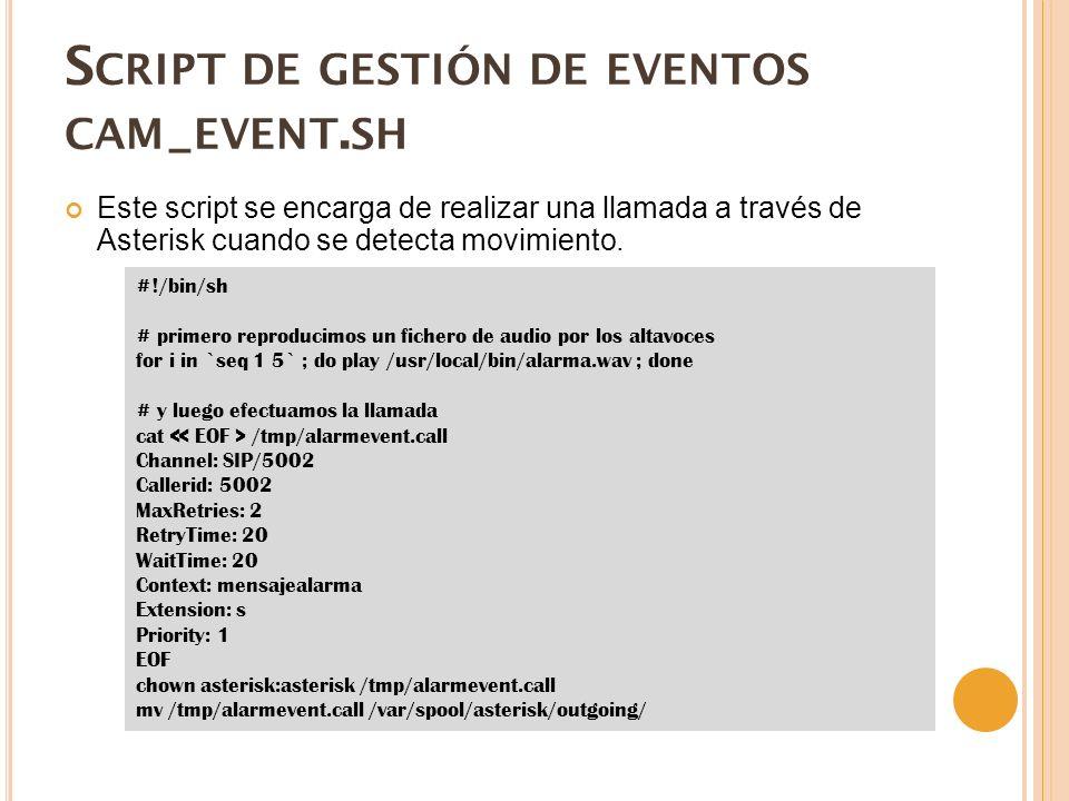 Script de gestión de eventos cam_event.sh