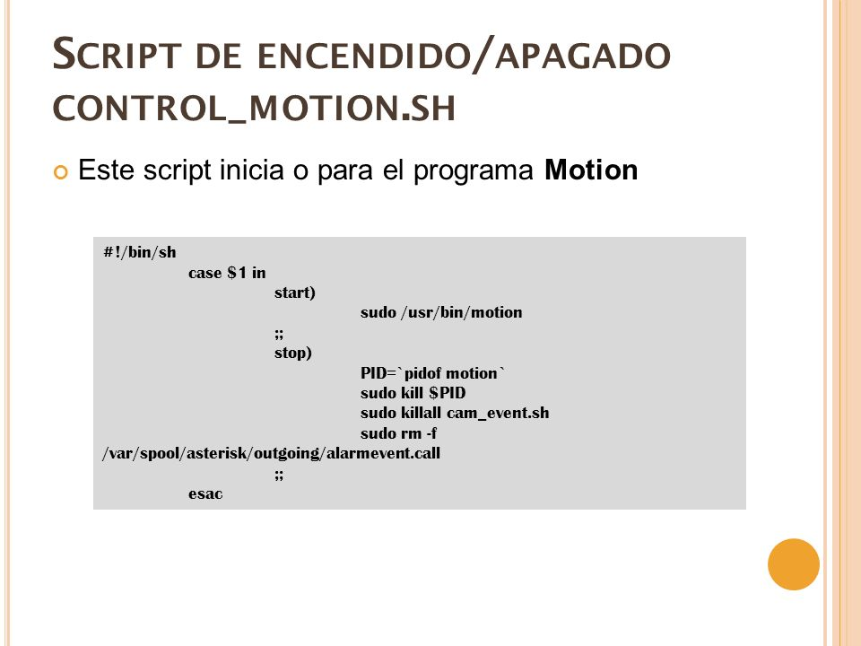 Script de encendido/apagado control_motion.sh