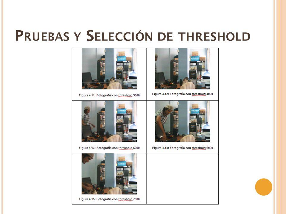 Pruebas y Selección de threshold