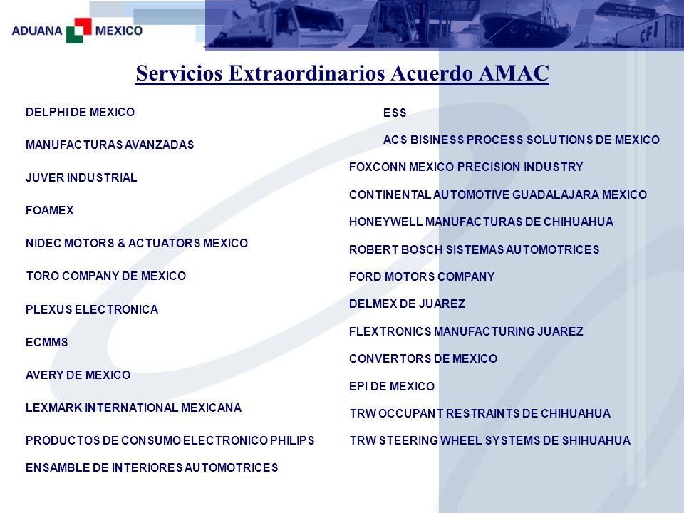 Servicios Extraordinarios Acuerdo AMAC
