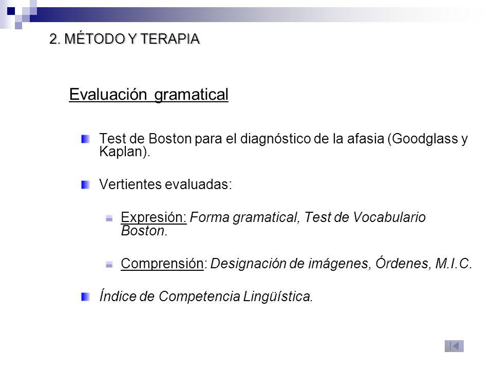 Evaluación gramatical