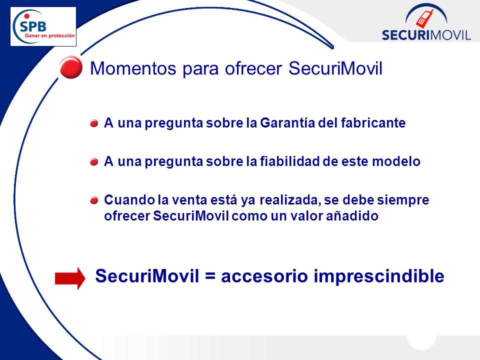Momentos para ofrecer SecuriMovil