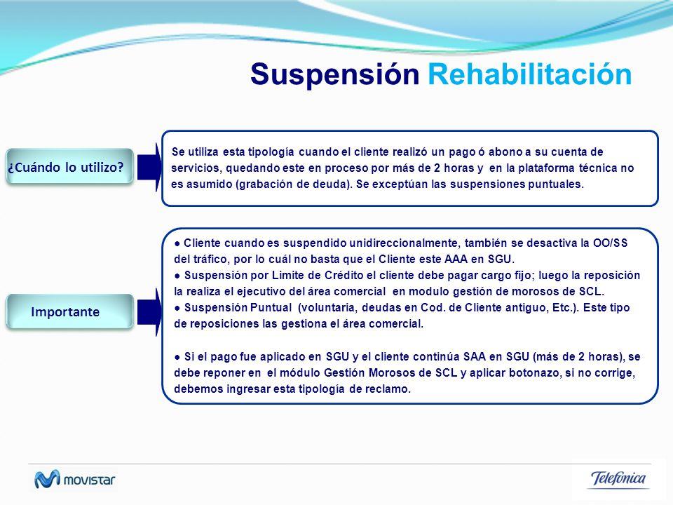 Suspensión Rehabilitación