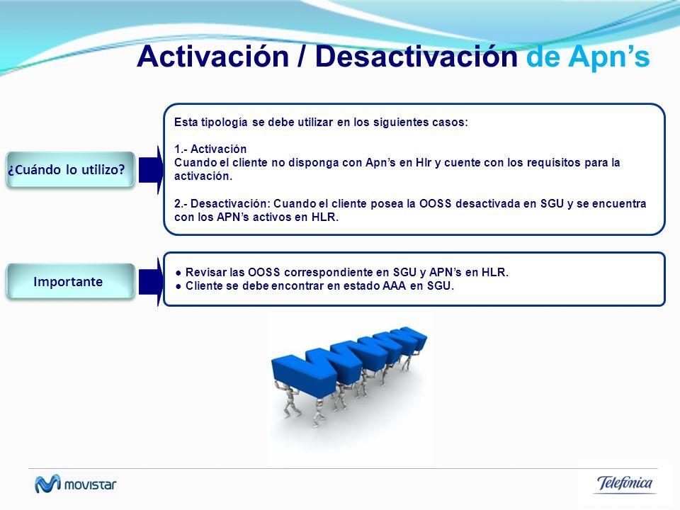 Activación / Desactivación de Apn's