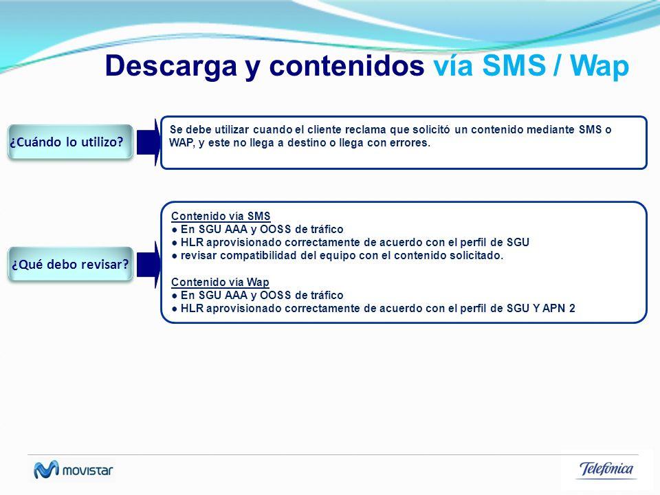 Descarga y contenidos vía SMS / Wap