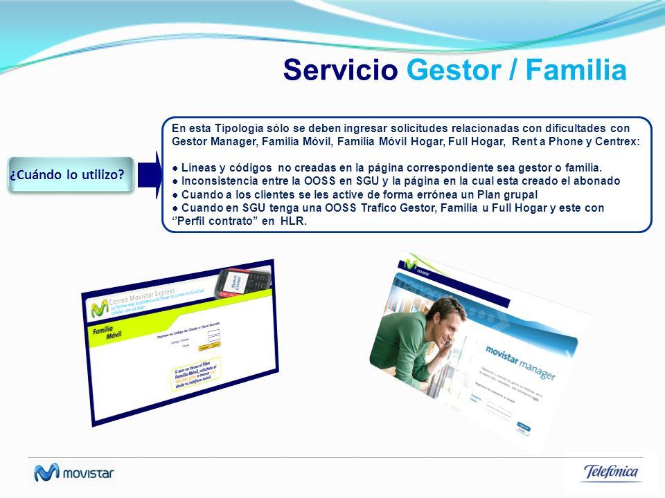 Servicio Gestor / Familia