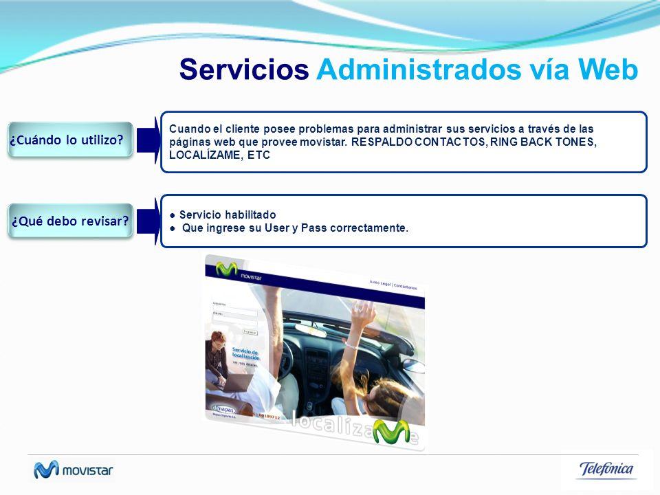 Servicios Administrados vía Web
