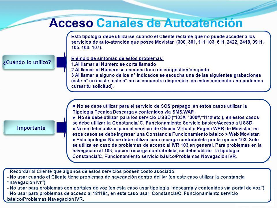 Acceso Canales de Autoatención