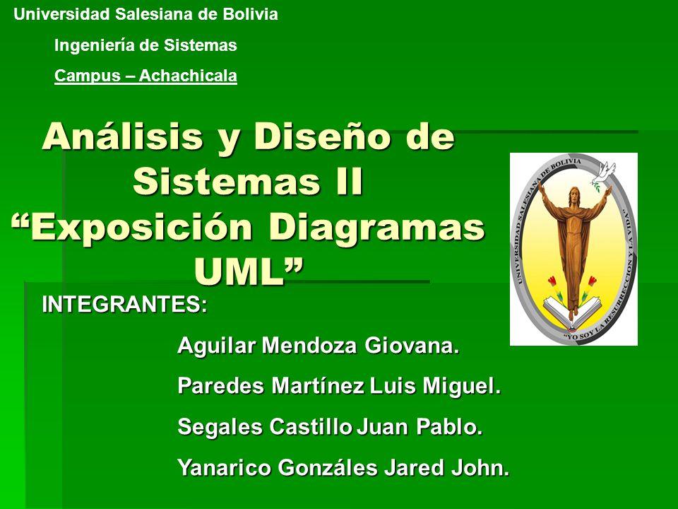Análisis y Diseño de Sistemas II Exposición Diagramas UML