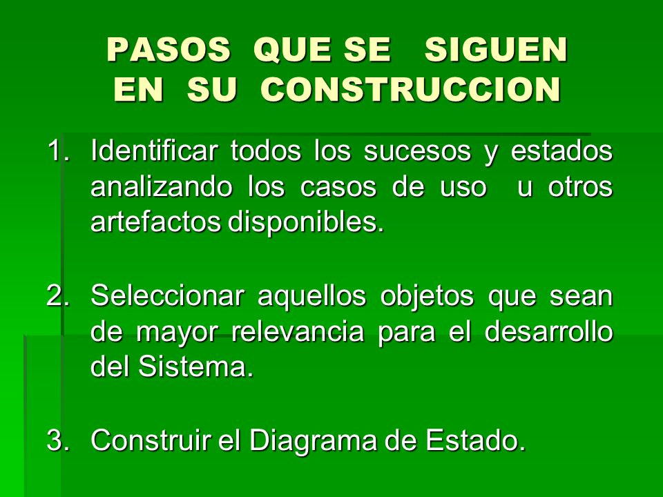 PASOS QUE SE SIGUEN EN SU CONSTRUCCION
