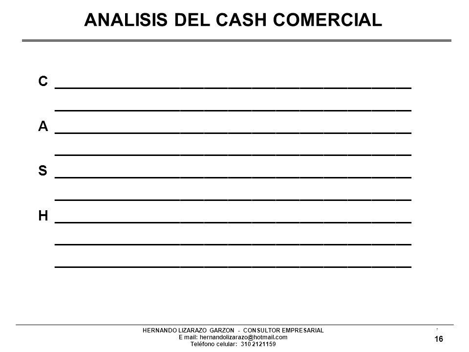 ANALISIS DEL CASH COMERCIAL