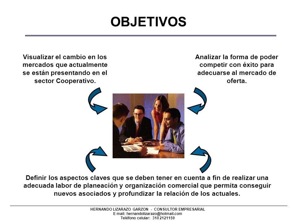 OBJETIVOS Visualizar el cambio en los mercados que actualmente se están presentando en el sector Cooperativo.