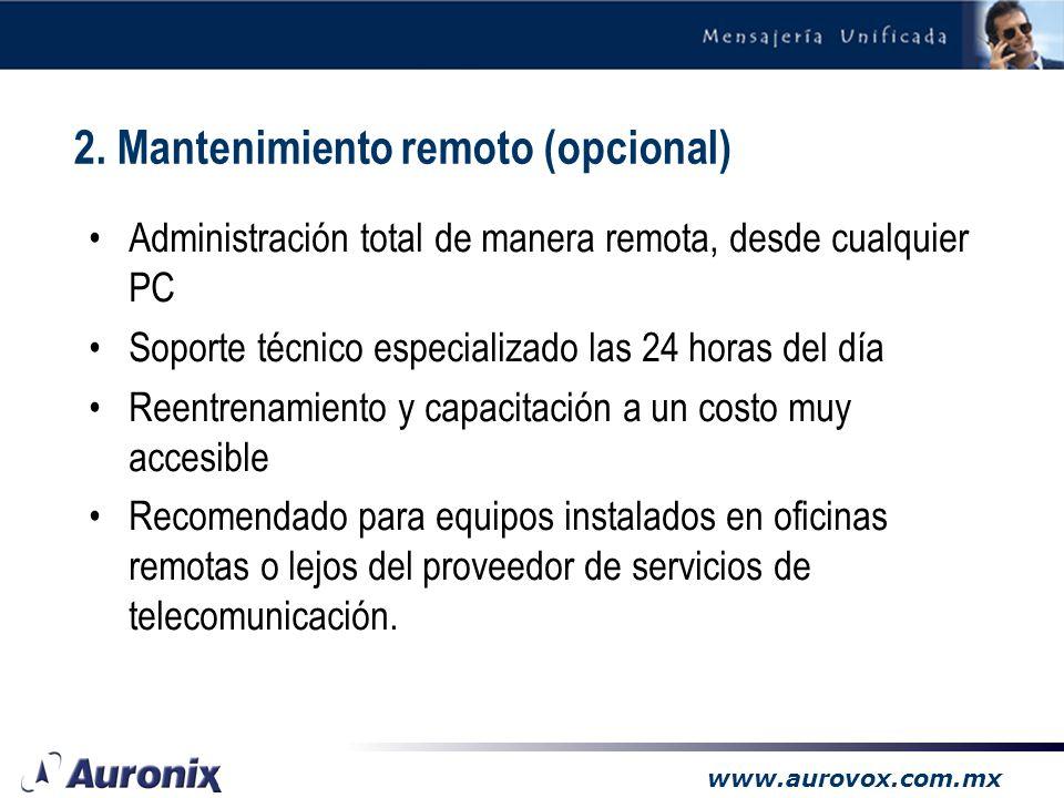 2. Mantenimiento remoto (opcional)