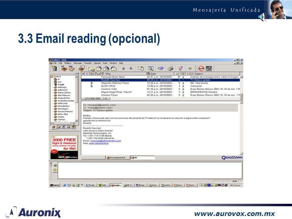 3.3 Email reading (opcional)