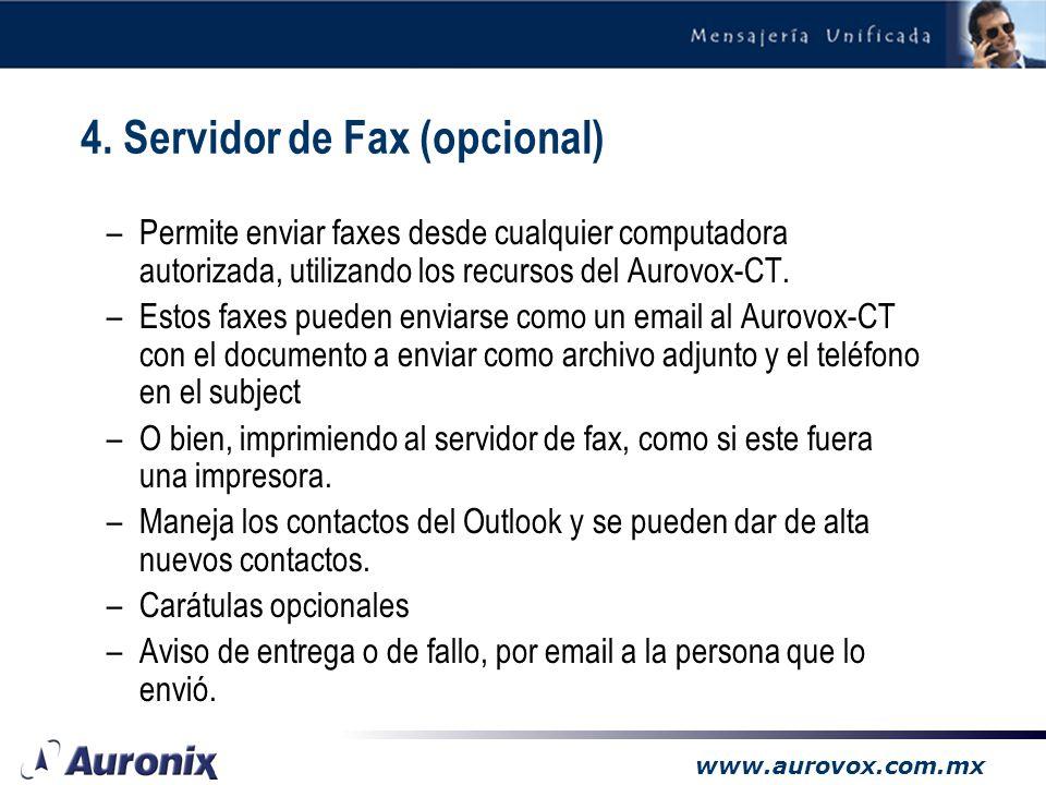 4. Servidor de Fax (opcional)