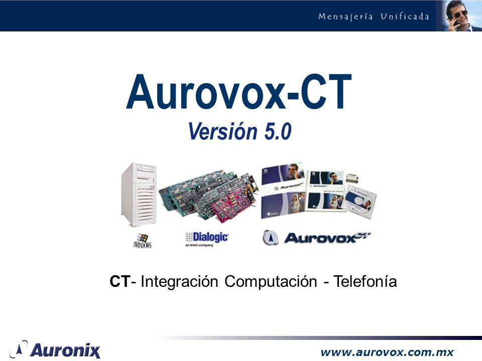Aurovox-CT Versión 5.0 CT- Integración Computación - Telefonía