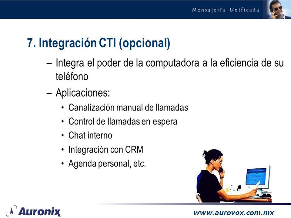7. Integración CTI (opcional)