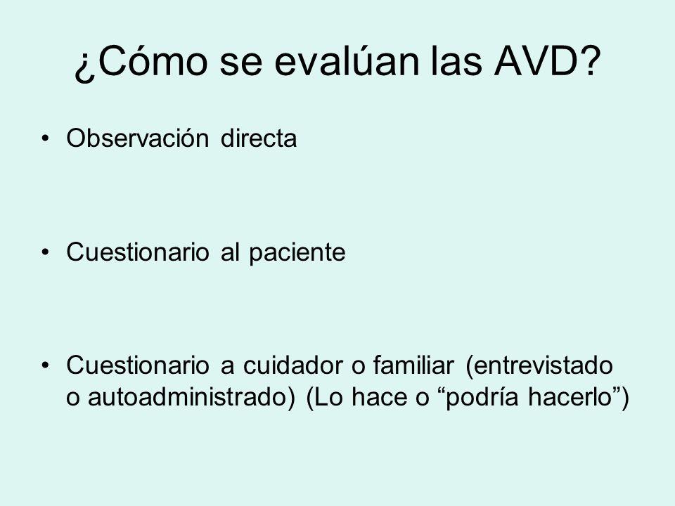 ¿Cómo se evalúan las AVD