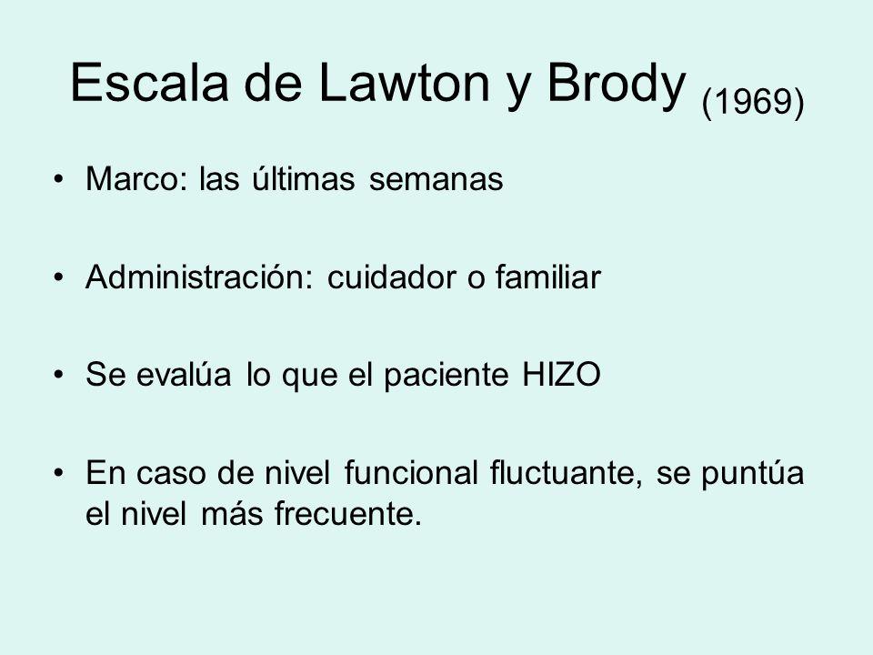 Escala de Lawton y Brody (1969)