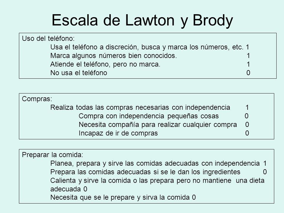 Escala de Lawton y Brody