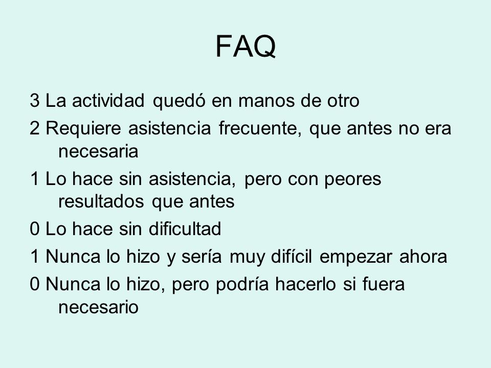 FAQ 3 La actividad quedó en manos de otro