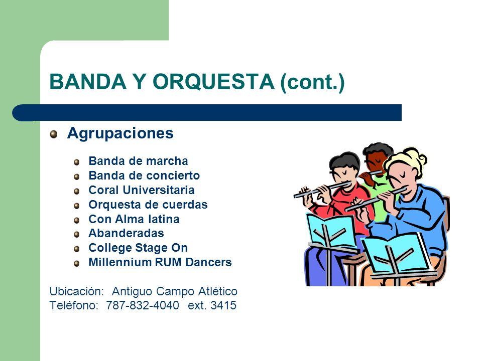 BANDA Y ORQUESTA (cont.)