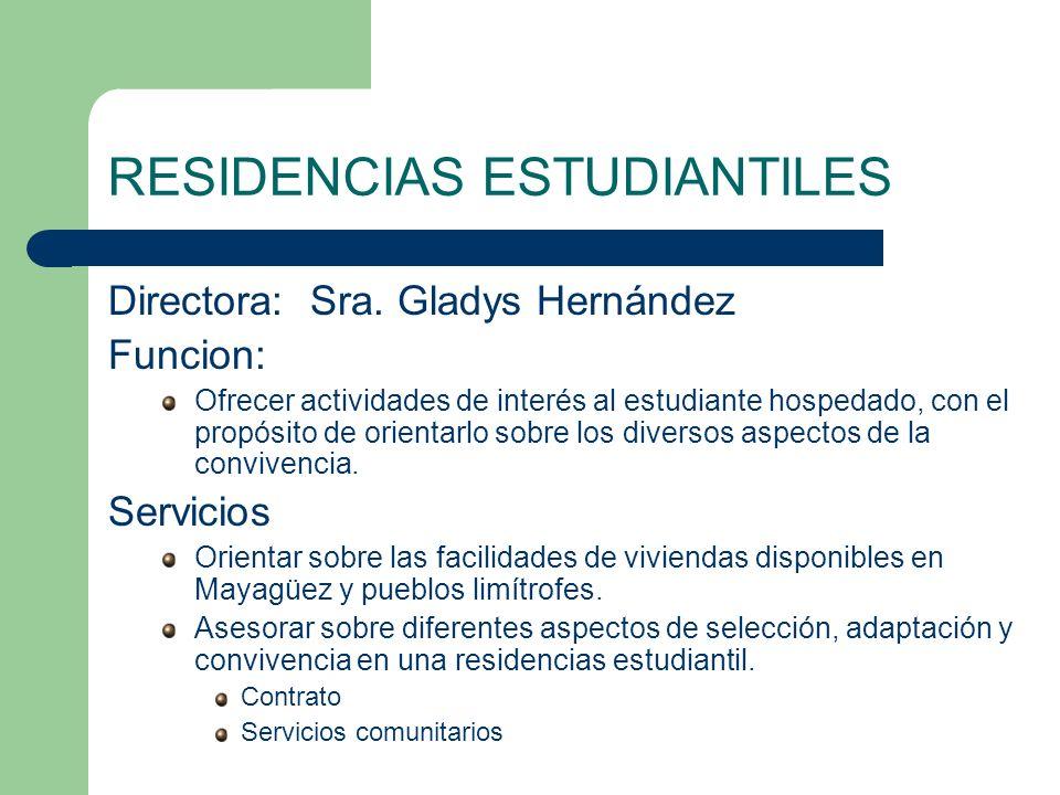 RESIDENCIAS ESTUDIANTILES