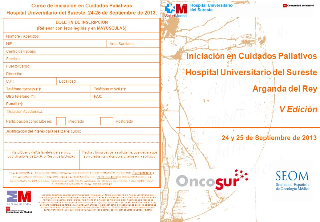 Iniciación en Cuidados Paliativos Hospital Universitario del Sureste