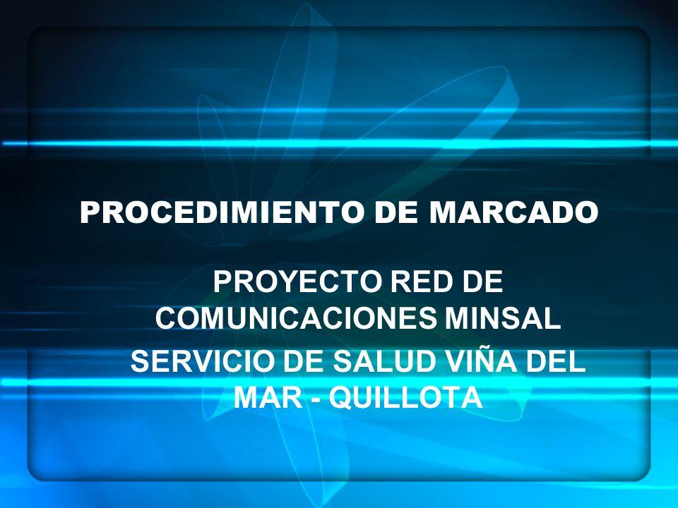 PROCEDIMIENTO DE MARCADO