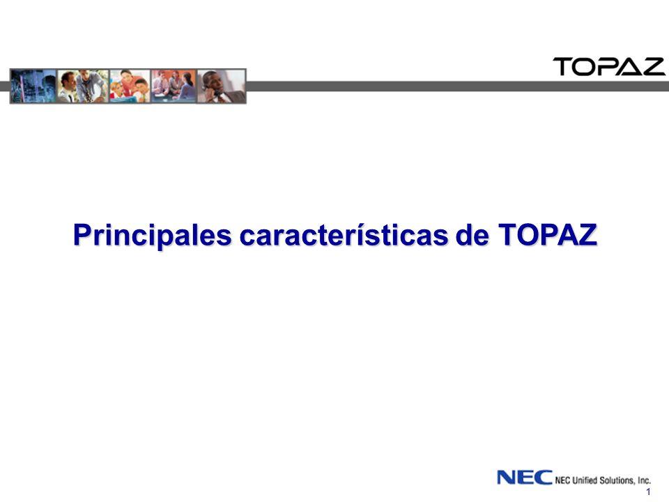 Principales características de TOPAZ