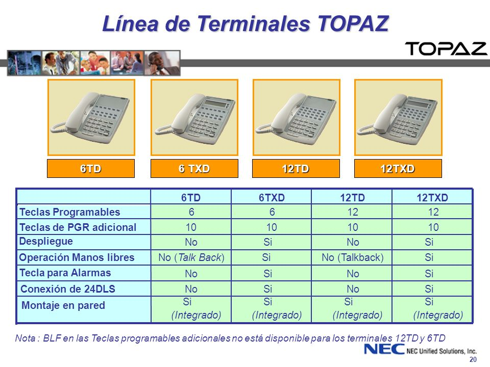 Línea de Terminales TOPAZ