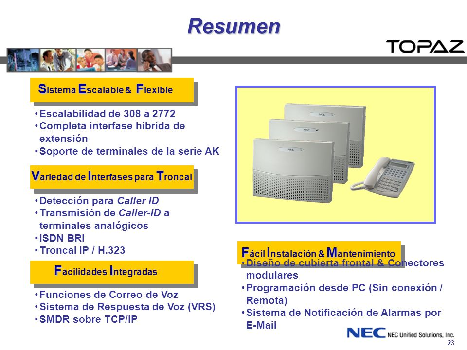 Resumen Sistema Escalable & Flexible
