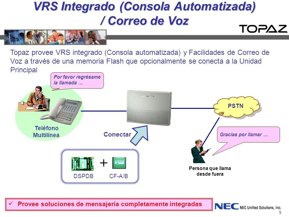 VRS Integrado (Consola Automatizada) / Correo de Voz