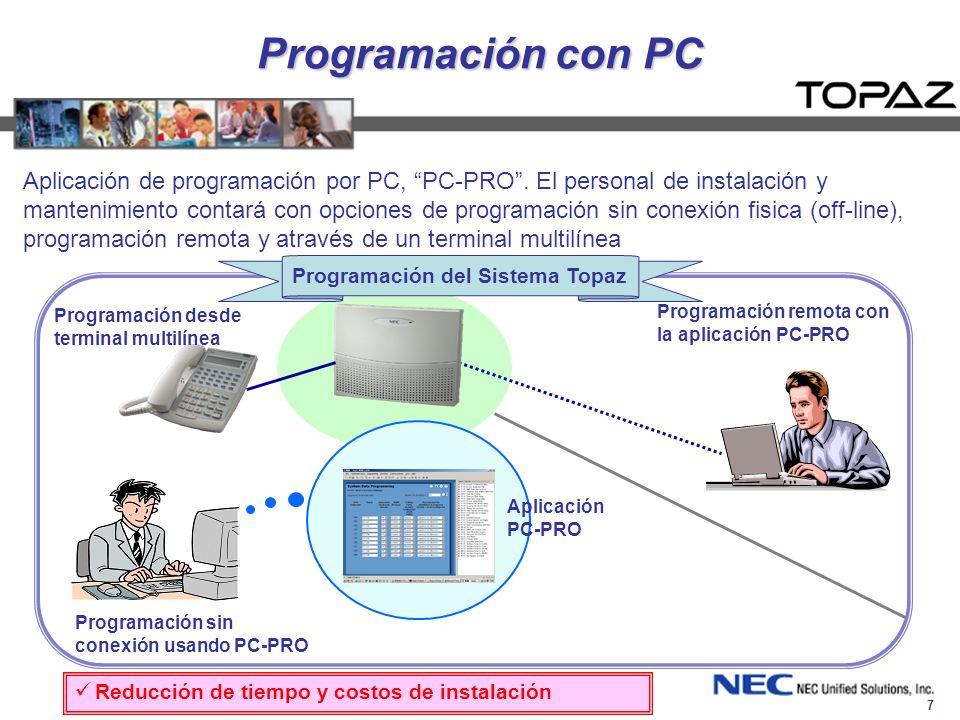Programación del Sistema Topaz