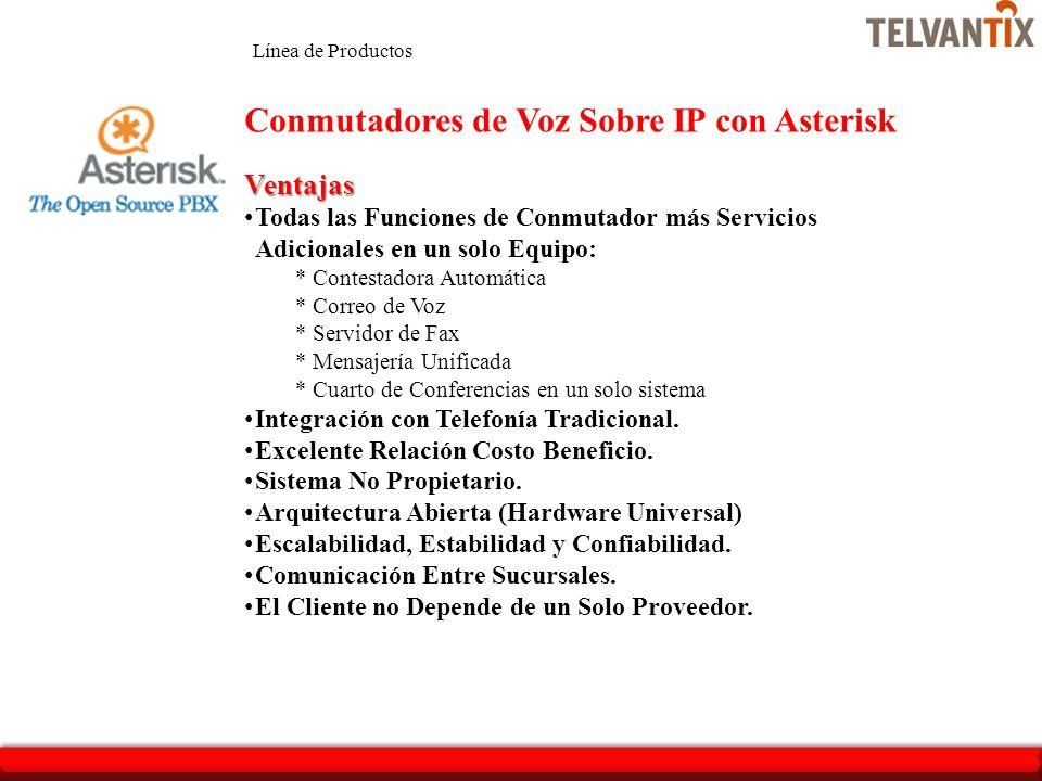 Conmutadores de Voz Sobre IP con Asterisk
