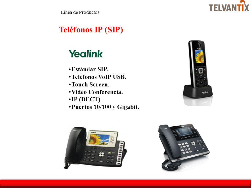 Teléfonos IP (SIP) Estándar SIP. Teléfonos VoIP USB. Touch Screen.