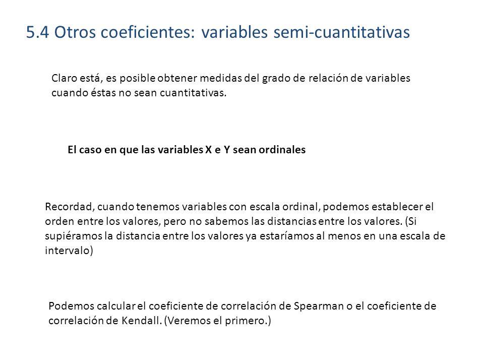 5.4 Otros coeficientes: variables semi-cuantitativas