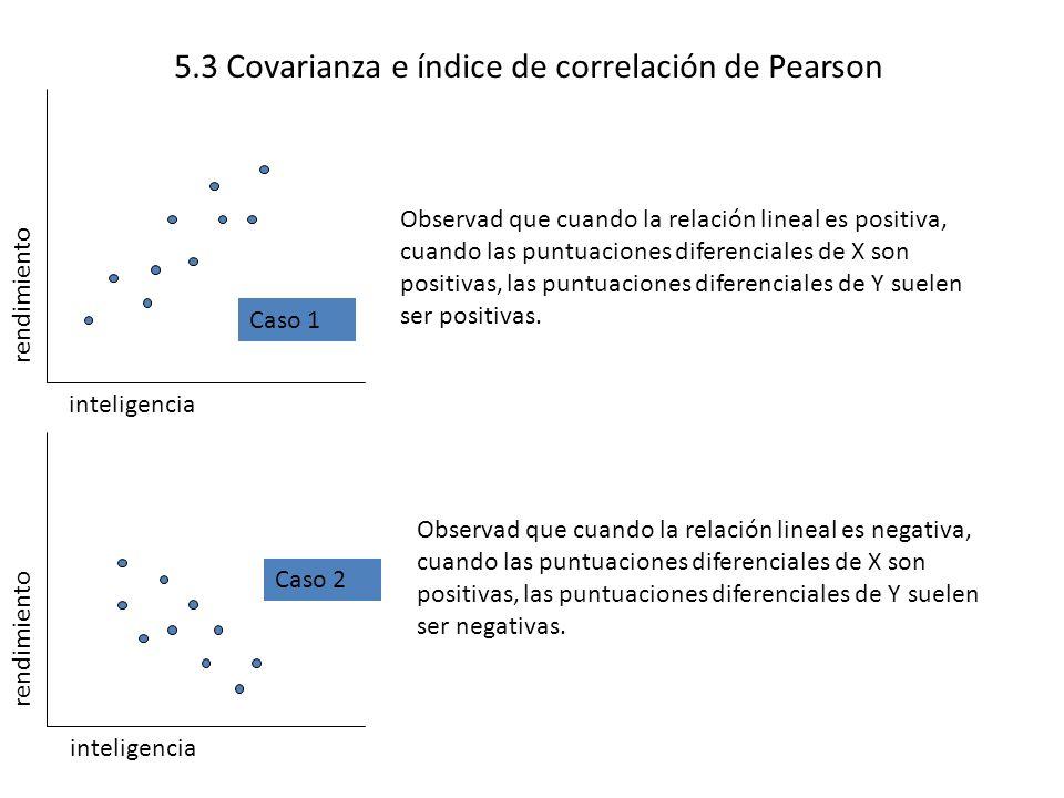 5.3 Covarianza e índice de correlación de Pearson