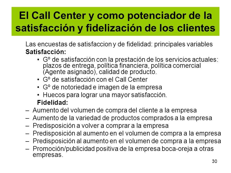 El Call Center y como potenciador de la satisfacción y fidelización de los clientes