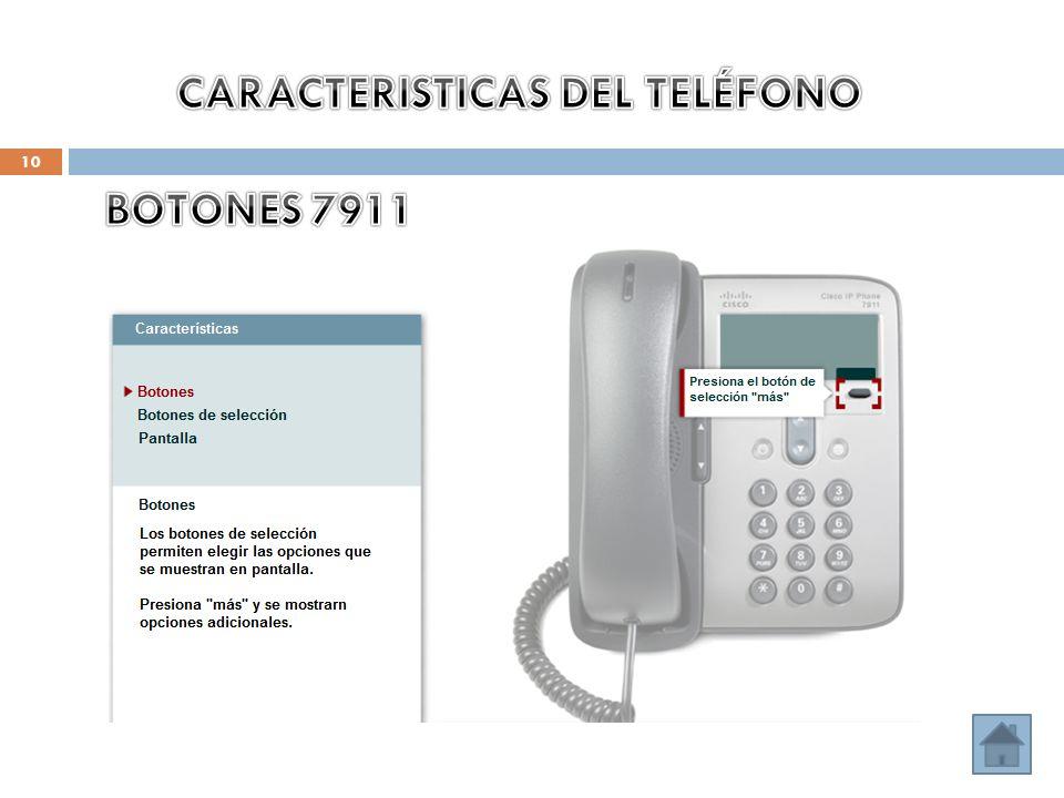 CARACTERISTICAS DEL TELÉFONO