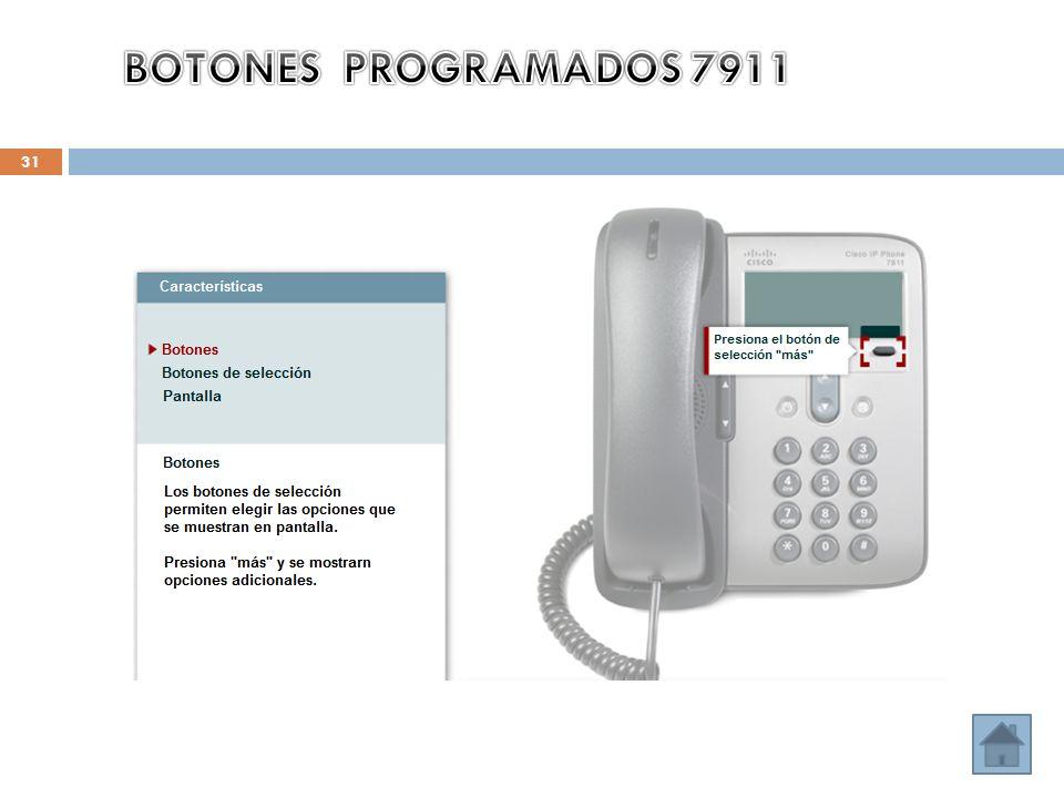 BOTONES PROGRAMADOS 7911