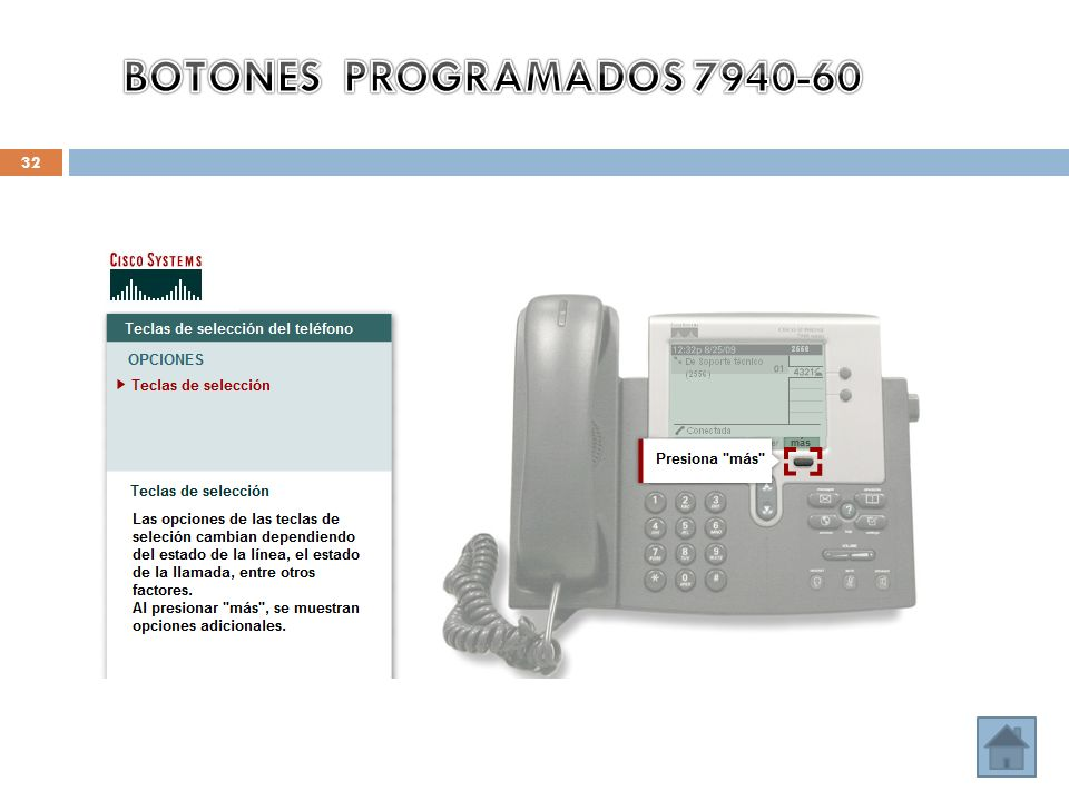 BOTONES PROGRAMADOS 7940-60