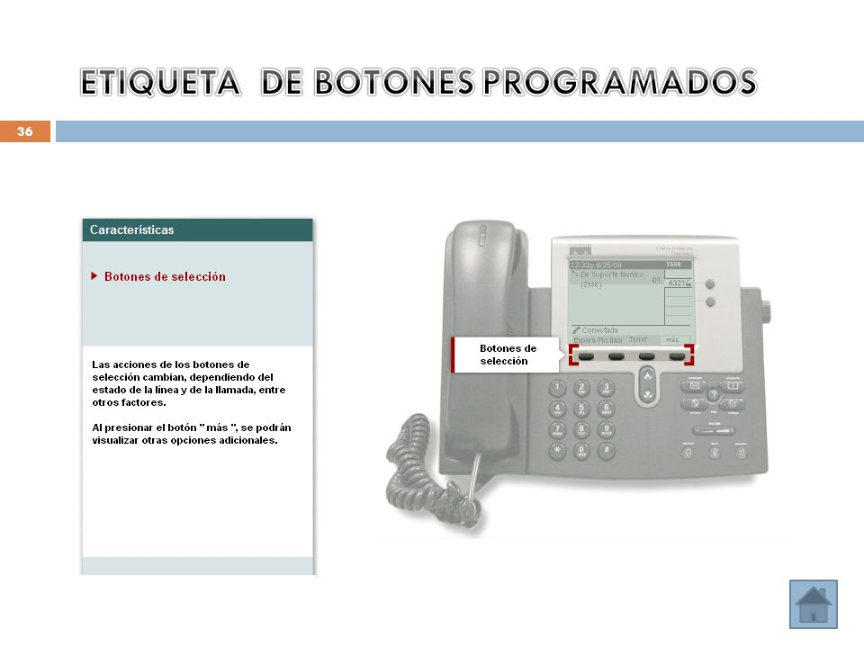 ETIQUETA DE BOTONES PROGRAMADOS